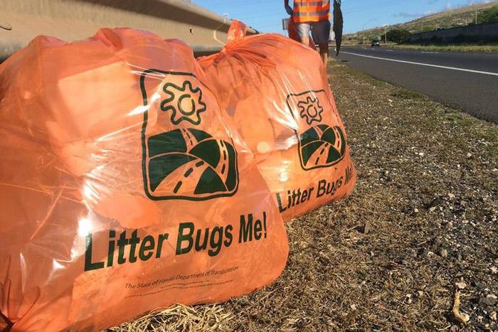 Adopt-A-Highway program details trash bags