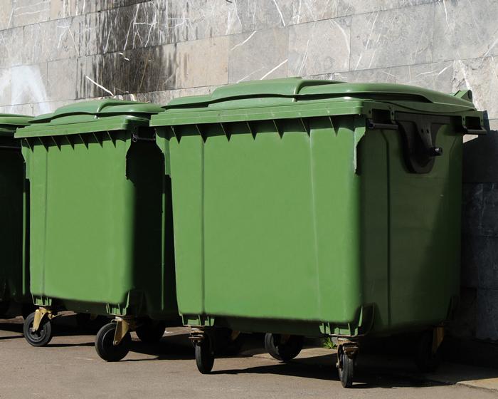 dumpster lids closed